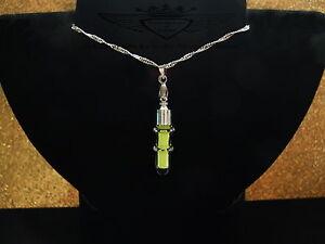 Phiole-mit-3D-Glas-Ringe-Nachtleuchtend-Gelb-925-Silberkette-Glow-in-the-Dark