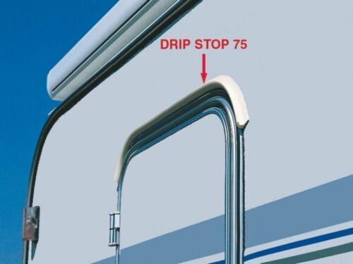 Fiamma Drip Stop 75cm Caravan Motorhome Gutter Door Rain Deflector in grey