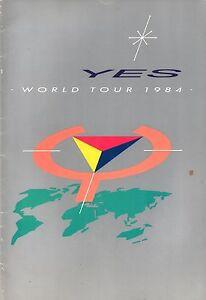 YES 1984 9012 LIVE WORLD TOUR CONCERT PROGRAM BOOK / JON ANDERSON / VG 2 NMT
