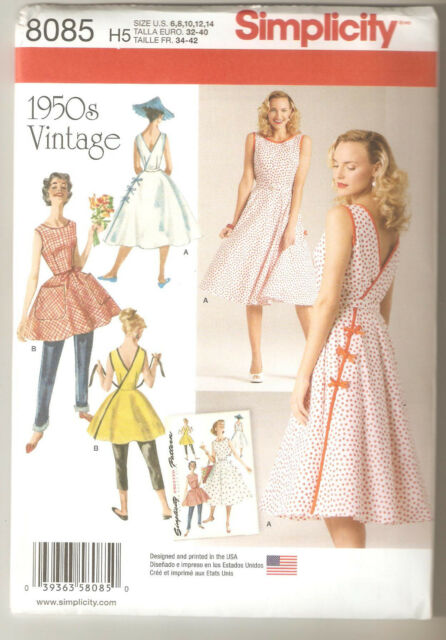 Simplicity Sewing Pattern 8085 Miss Vintage 1950's Wrap Dress Two Lengths 6-14