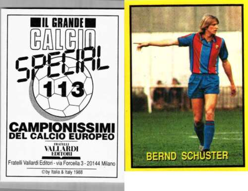 Schuster Barcelona Rare Italian Issue 1988 Football! New! Grande Calcio n.113