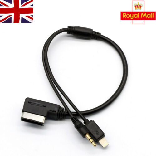 MDI VW AMI Audi for Media AUX IN 3.5 Jack Interface iPhone Cable Adapter Charge