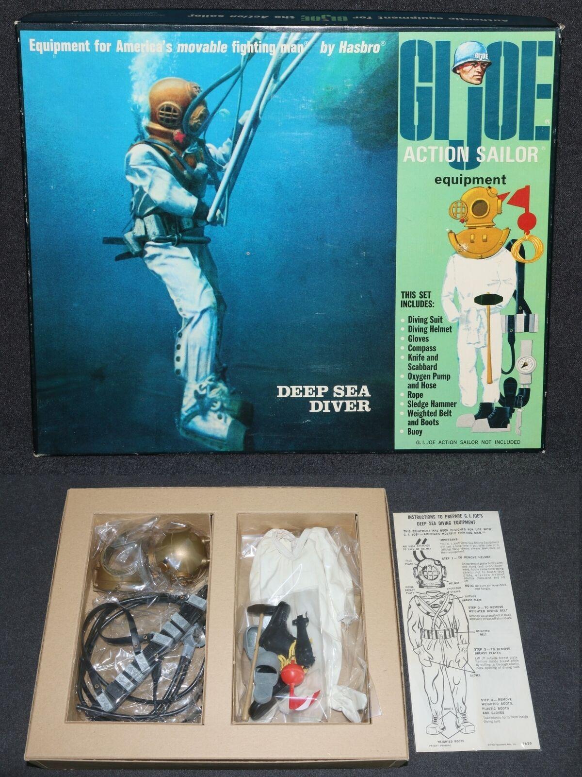 Gi Joe 1964 1968 7620 Menta en Caja Azul Marino Deep Sea Buceo Foto Caja Lindo C9