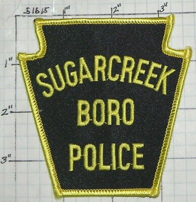 SUGARCREEK BOROUGH PENNSYLVANIA PA POLICE PATCH