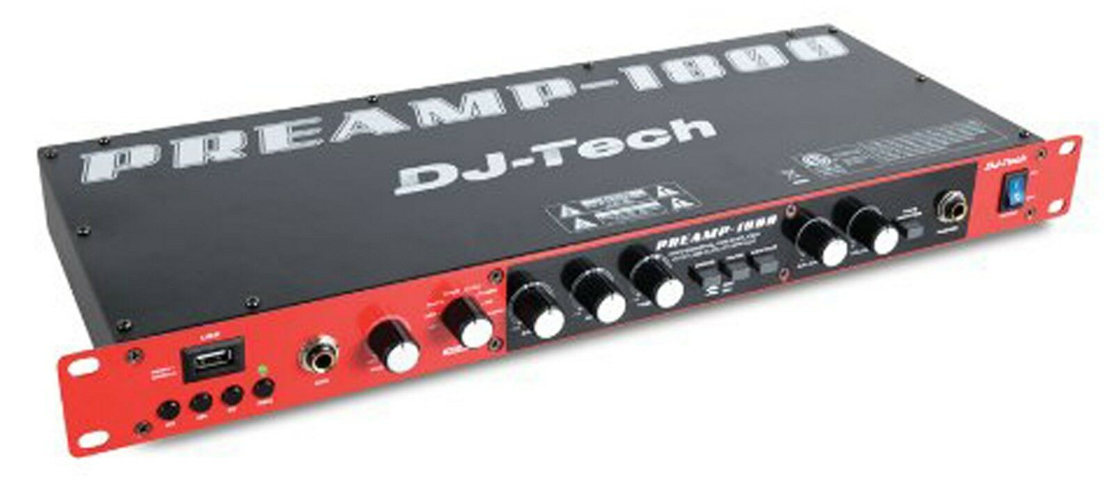 DJ Tech PREAMP 1800 8 Channel Preamplifier w// USB Audio Interface 110V-240V
