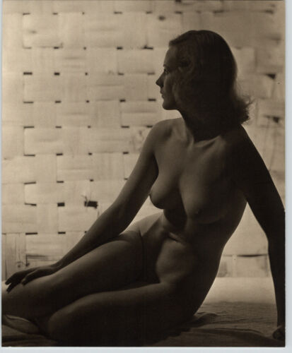 1940 Original FEMALE BLONDE BREASTS PROFILE NUDE Woman Body JOHN EVERARD PHOTO