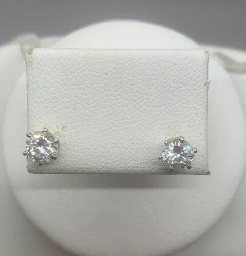 Vinatge Signed Monet Crystal Stud Earrings - image 1