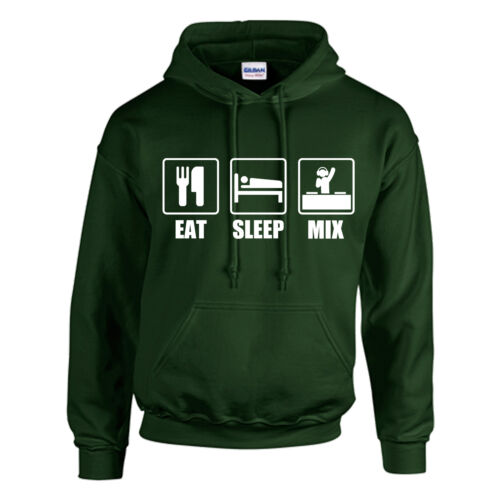 MIX HOODIE ADULT//KIDS EAT PERSONALISED SLEEP DJ MIXING GIFT XMAS TOP DJING