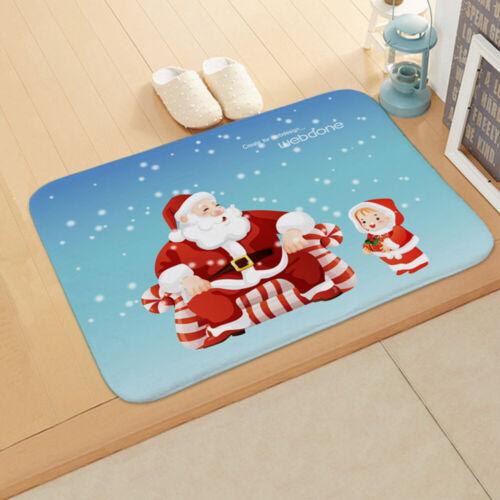 Merry Christmas Floor Carpet Outdoor Rugs Room Non Slip Door Mat Home Decoration