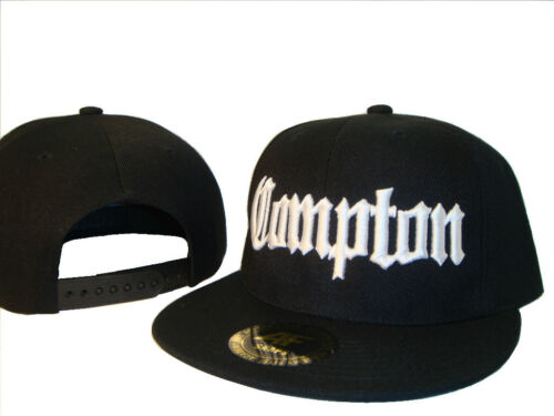 Black /& White Compton Los Angeles Flat Bill Snapback Baseball Cap Caps Hat Hats