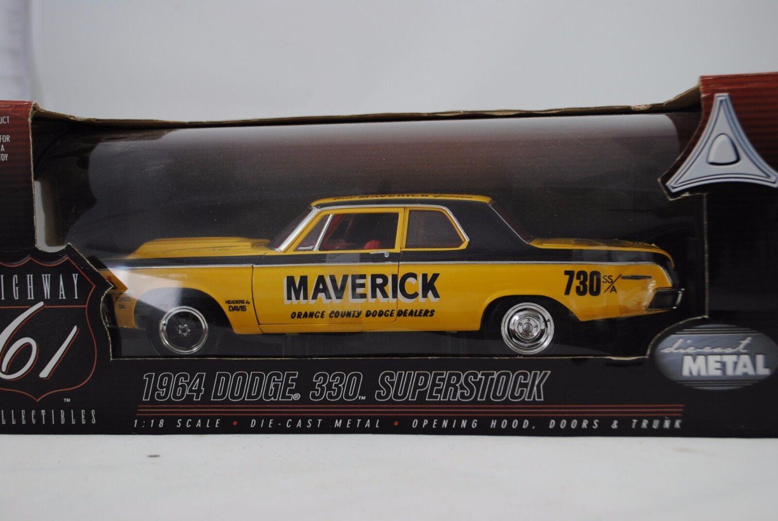 1 18 Highway 61 1964 Dodge 330 Superstock Bill Maverick Rareza Nuevo   Ovp
