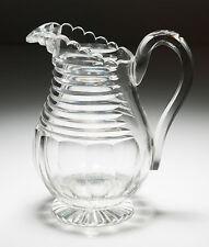 Antique Victorian/Edwardian Cut Glass Jug - Georgian Irish Design