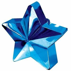 Blue-Star-Heavy-Balloon-Weight-Helium-Foil-Birthday-Wedding-Party-Decoration