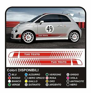Details About Racing Stripe Stickers For Fiat 500 Abarth Assetto Corse Decals Side Aufkleber
