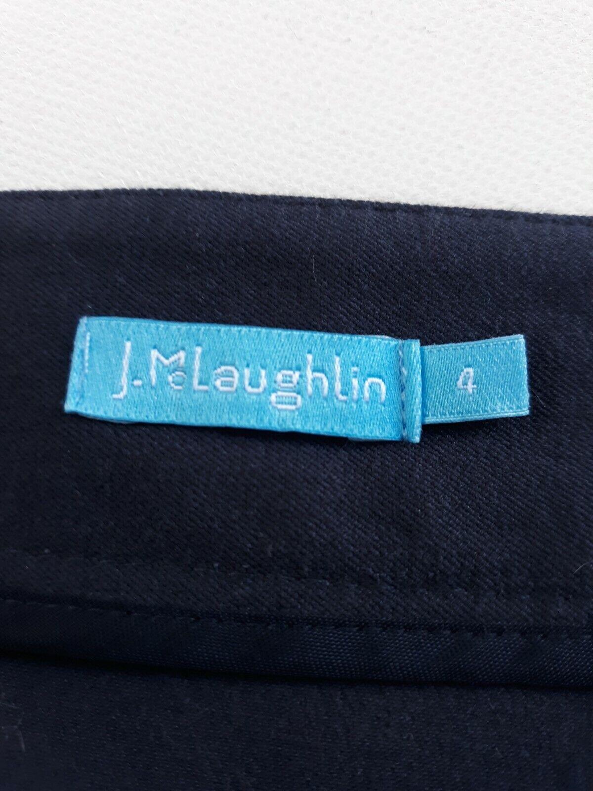J McLaughlin Teal Button Front A Line Skirt Size 2 - image 12