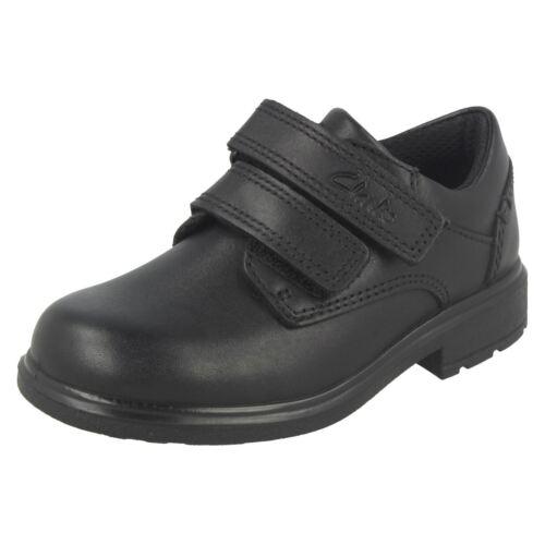 Boys Clarks Double Strap School Shoes *Remi Pace*