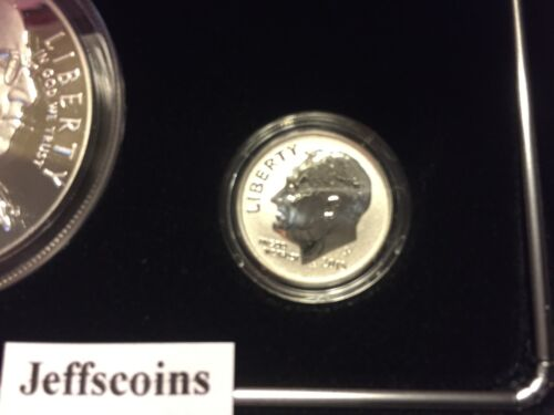 3 Coin Set 2015 W March of Dimes 2018 S Reverse 90/% Silver /& Proof Dime /& Dollar