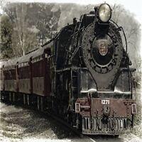 Old Steam Engine Train Locomotive 2 Coasters Set U Pick Set Size