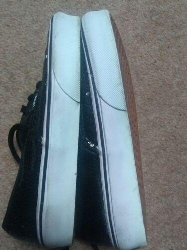 tamaño de 5 4 Furgonetas Reino Unido 3 5 nosotros lentejuelas negras TSCS6xUH