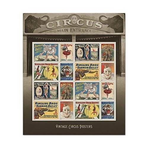 USPS Vintage Circus Posters Forever U.S. Postage Stamps 16 Sheet Hobbies Gift