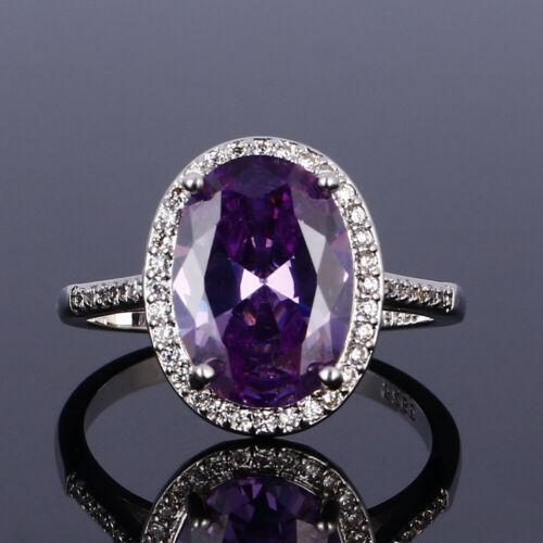 Vintage Argent 925 Améthyste Ruby Gemstone antique Anneau de Bijoux en Gros SZ 6-10