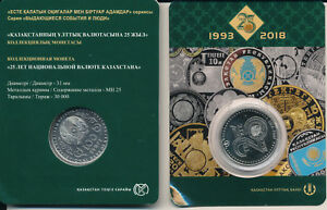 Kazakhstan-Kazakhstan-100-Tenge-2018-UNC-25-YEARS-OF-TENGE-in-Blister