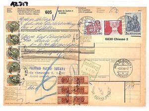 Az317 1980 Suisse Valeurs élevées St Gallen * Assurés Mail * Carte De L'italie Pts