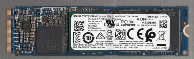 NEW Toshiba XG5 2TB 2048GB M.2 PCIe GEN 3 NVMe SSD DP/N MGHFP  2 TB LATEST MODEL