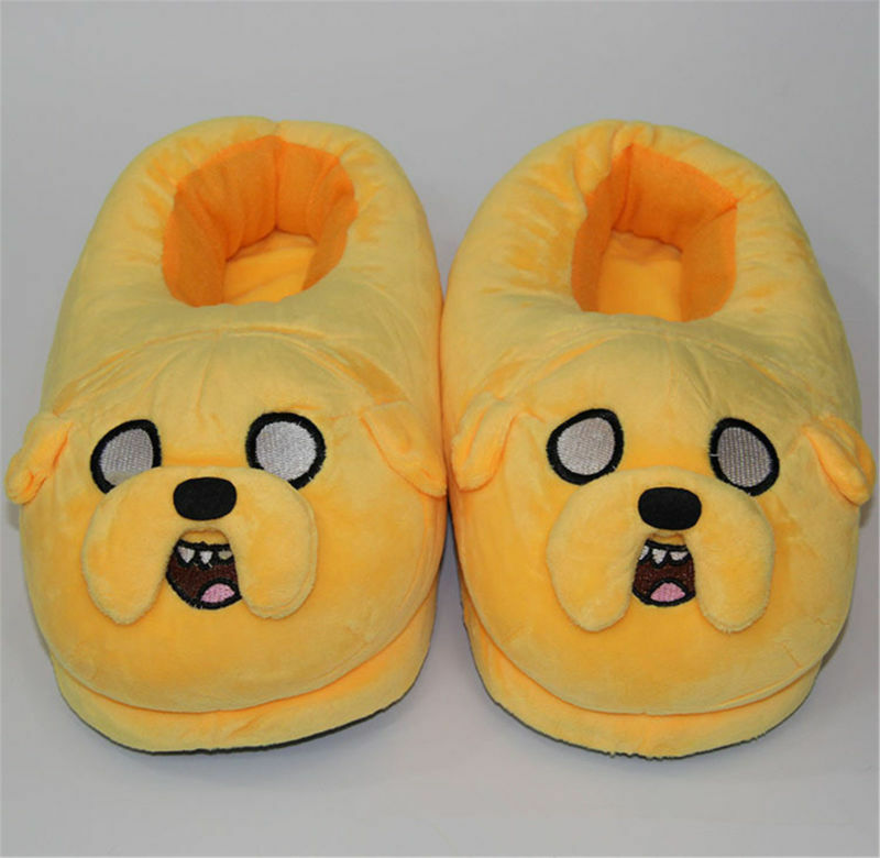 Adventure Time Jake Cartoon Plush Indoor Chambre Hiver Chaud Chaussons 11""