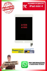 FLAT-FLEX-LCD-DISPLAY-SCHERMO-VETRO-TOUCH-PER-IPAD-MINI-4-A1538-A1550-BIANCO