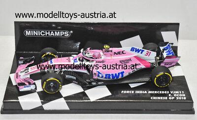 Sahara Force India F1 Mercedes Vjm11 Esteban Ocon 2018 MINICHAMPS 1:43 417180031