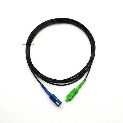 10m FTTH SC UPC Fiber Optic Drop Cable Pachcord Simplex SC Fiber Optic Patchcord