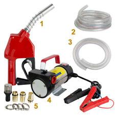 12v Dc Electric Diesel Oil And Fuel Transfer Pump Set Outletinlet Hose Amp Gun