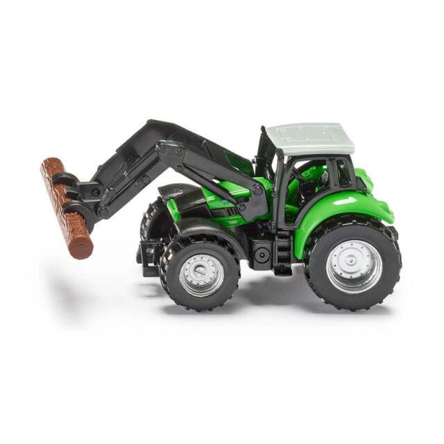 SIKU 1380 Deutz Fahr tractor con baumstammgreifer verde claro (blister) ¡NUEVO!