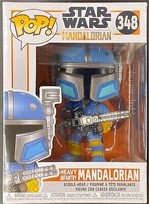 Star Wars The Mandalorian Heavy Infantry Mandalorian #348 Funko POP vinyl Figure