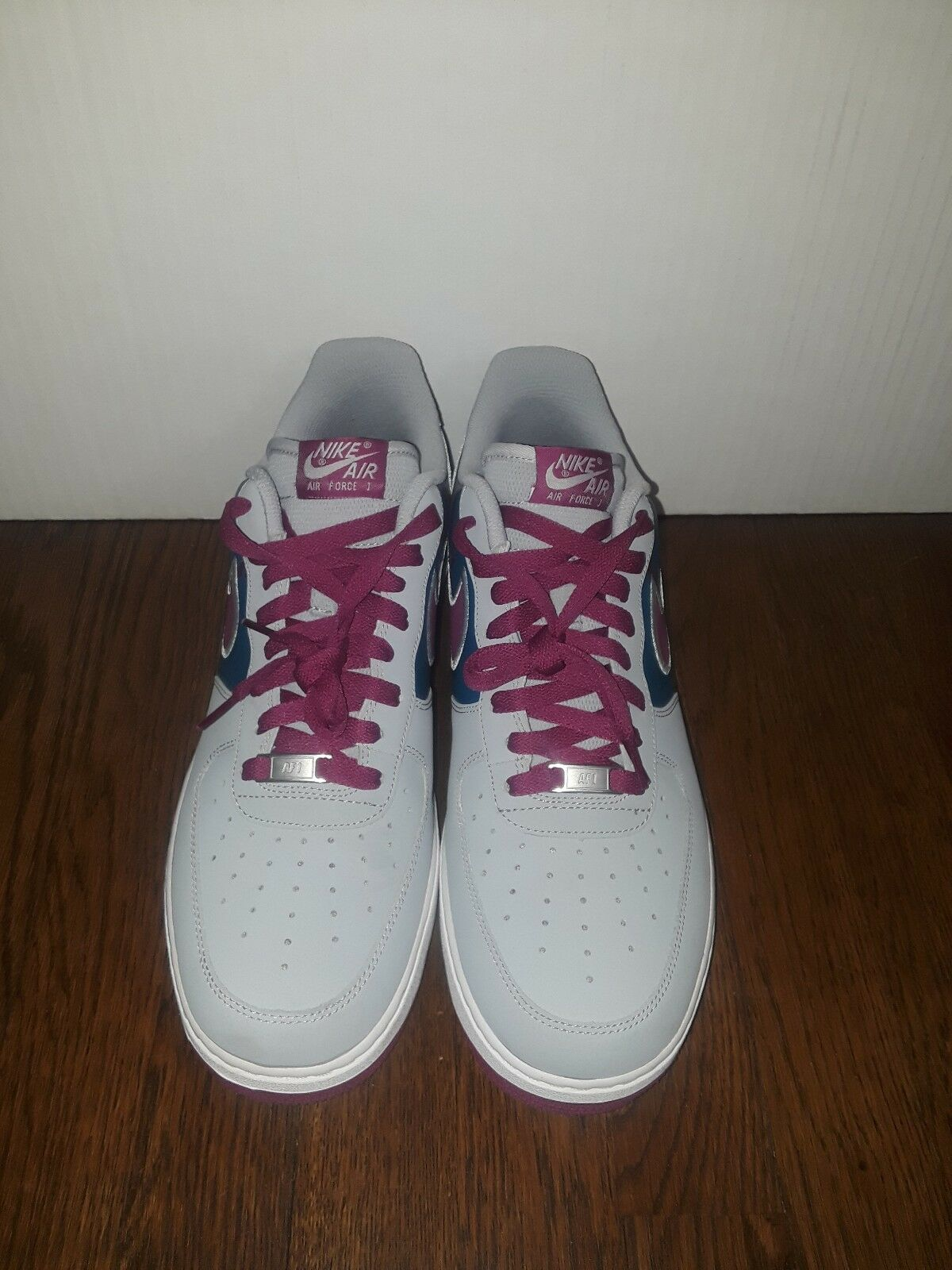 Mens Air Force One Size 12 Wolf Grey Bright Magenta Green
