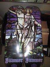 "2 Reliance Brian.Sumner ""STAINED GLASS JESUS"" Skateboard Decks  8.25"