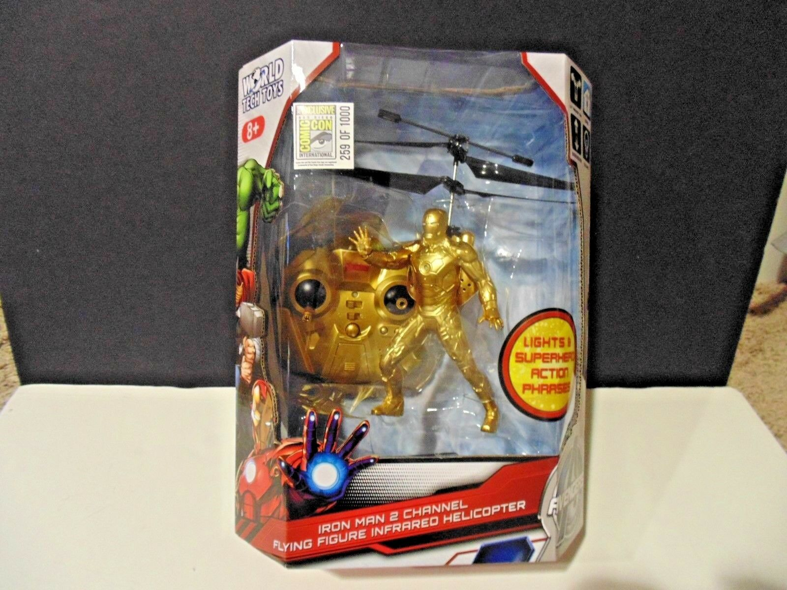 Avengers Iron uomo 2 Channel volareing cifra Comic Con Exclusive 434 RC Helicopter