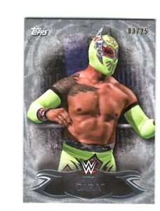 WWE-Sin-Cara-43-2015-Topps-Undisputed-Silver-Parallel-Base-Card-SN-3-of-25