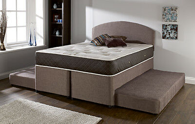 5FT 4 IN 1 GUEST BED WITH 2 EXTENDABLE BEDS AND A MEMORY FOAM MATTRESS
