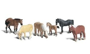 N-Woodland-Scenics-A2141-Figuren-Set-Pferde-neu-OVP