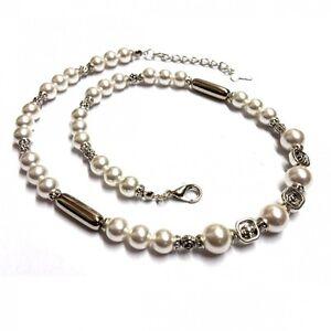 Olaf-Strauss-Design-Mujer-COLLAR-CADENA-perlas-de-cultivo-Collar-blanco