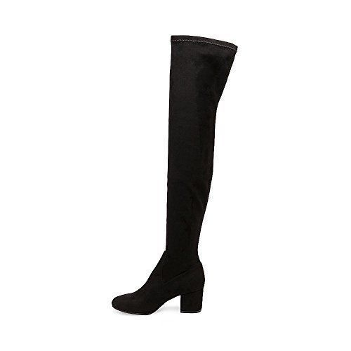 Steve Madden Isacc 10 M Black Vegan Vegan Vegan Suede Fabric Harness Over Knee Fashion Boots f324eb
