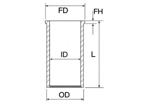 CYLINDER LINER SLEEVE ID 83.00 x OD 87.00 mm GET IT FAST