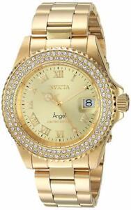 Invicta-Women-039-s-Angel-Limited-Edition-40mm-SS-Gold-Tone-Swiss-Quartz-Watch
