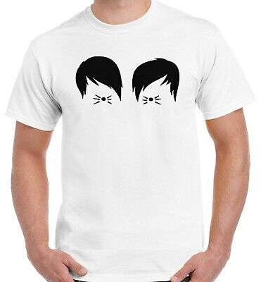 Dan And Phil Cat Whiskers Ladies T Shirt Tumblr Vlogger Fashion Funny Fan Cute