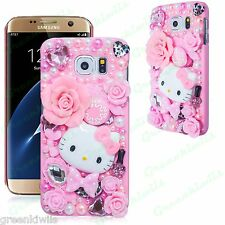 HOT 3D Bling Crystal Luxury Pink Hello Kitty Diamond Case for Samsung Galaxy S7
