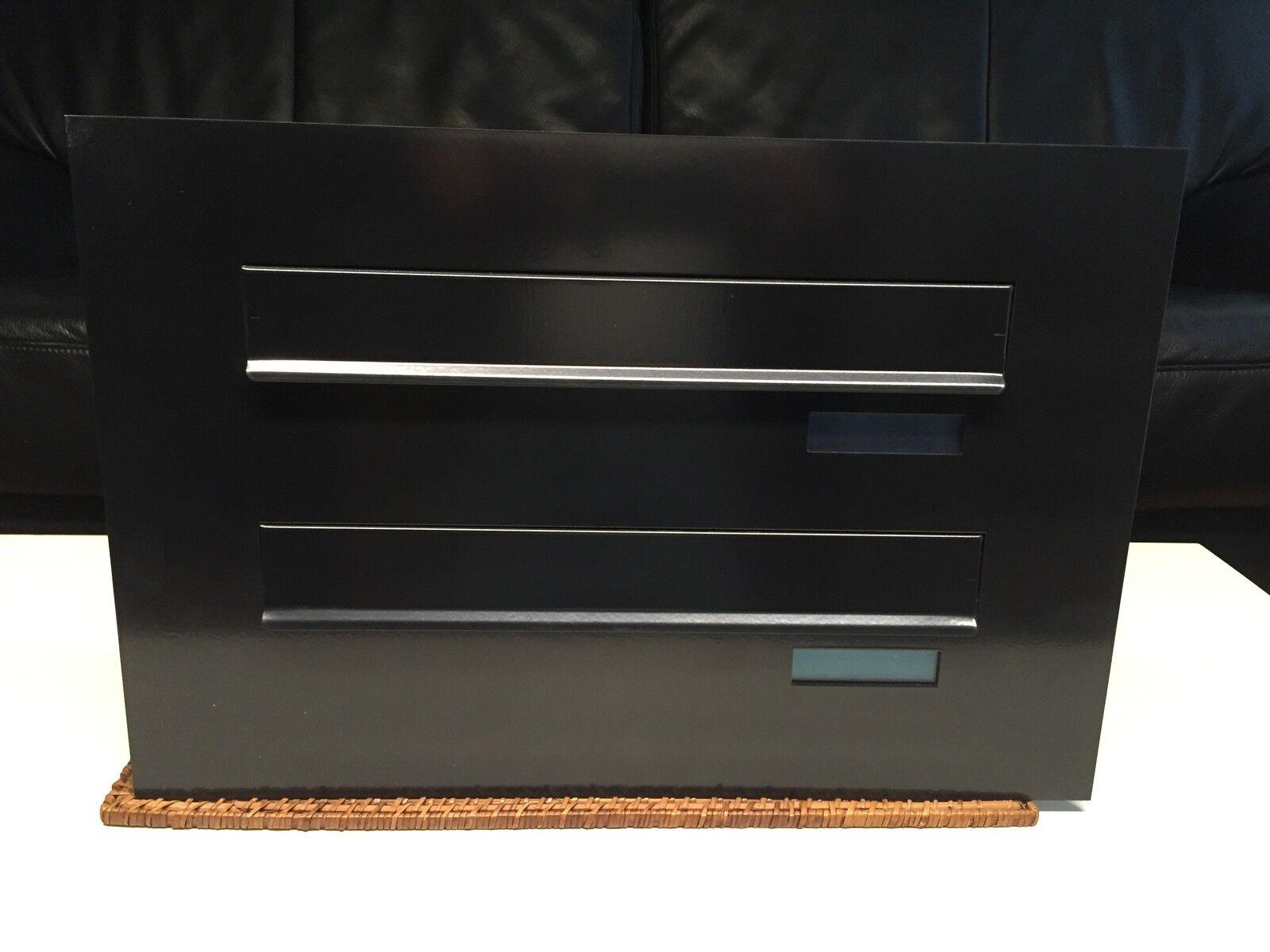 2er Mauerdurchwurf Briefkasten Anlage in graphit-schwarz....