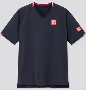 Uniqlo-Size-Medium-Roger-Federer-Tennis-Shirt-BNWT-Australian-Open-2020-Navy
