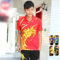 Li Ning Men's Table Tennis Clothing/badminton Set Shirt+shorts 1036a